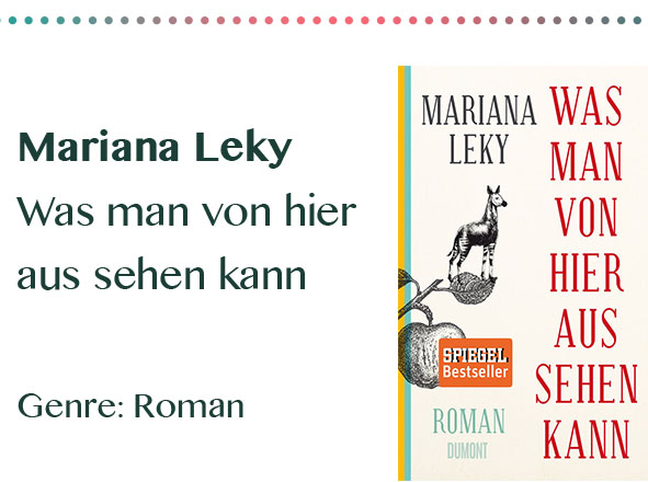 rezensionen__0048_Mariana Leky Was man von hier aus sehen kann Genre_ Roman