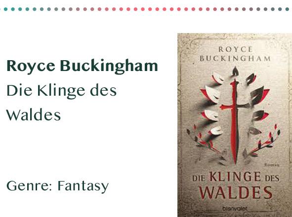 _0017_Royce Buckingham Die Klinge des Waldes Genre_ Fantasy