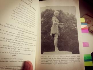 Statue von Pocahontas als Mädchen in Virginia